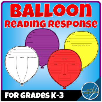 Balloon Shaped Reading Response Sheets for Any Book