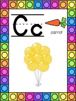 Balloon Themed Alphabet Posters