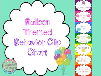Balloon Themed Behavior Clip Chart