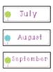 Balloon Themed Calendar Set