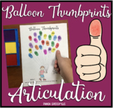 Balloon Thumbprints A Speech Therapy Craft Activity