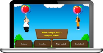 Balloon War quiz game template