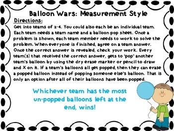 Balloon Wars! A Metric Conversion Game
