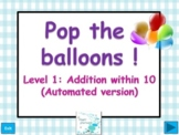 Balloon pop  -  Addition of numbers