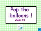 Balloon pop freebie -  Make 10 !   (A number bond game)