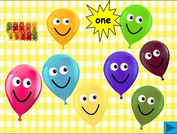 Balloon pop freebie -  a numeral and number word recognition game