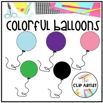 Balloons Clip Art By The Clip Artist