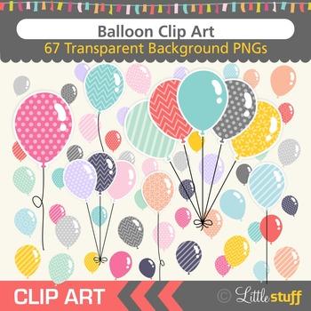 Balloons Clipart, Colorful Balloon Clip Art