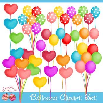 Balloons Clipart Set