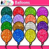 Rainbow Balloon Clip Art {Birthday and Holiday Graphics fo