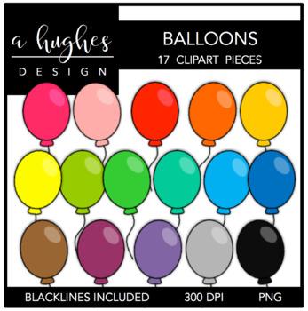 Balloons Clipart {A Hughes Design}