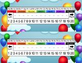 Birthday Balloons Desk Name Tag Plates Set