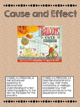 Balloons Over Broadway Cause and Effect Activity