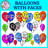Balloons With Faces Clipart