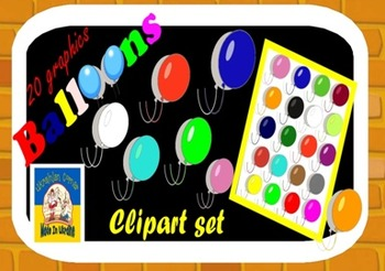 Balloons/ /clipart/ /20 graphics