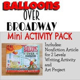 Balloons over Broadway Mini Activity Pack