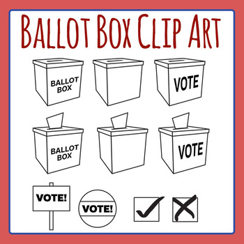 Ballot Box Clip Art Set for Commercial Use