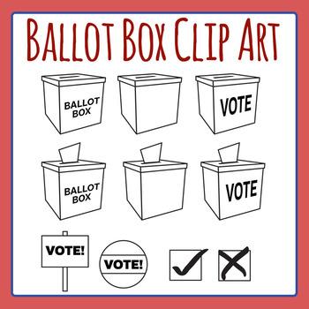 Ballot Box Clip Art Set for Commercial Use