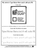 Ballot Voting - Name Tracing & Coloring Editable Sheet - #