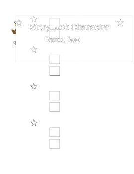 Ballot to Vote for Storybook Character