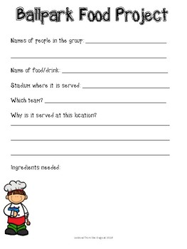 Ballpark Chef - Using Baseball, Shopping,  and Cooking to Teach Economics