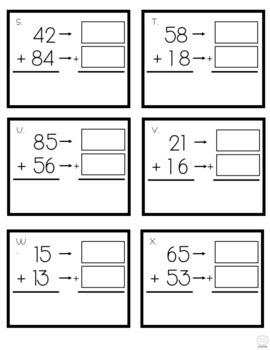 Ballpark Estimation - 2-digit Addition Task Cards