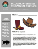 Ballpark Mysteries #12 The Rangers Rustlers Novel Study