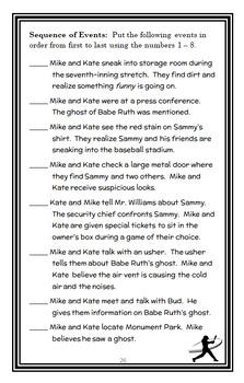 Ballpark Mysteries BUNDLE (David A. Kelly) 3 Novel Studies : Books #1-3