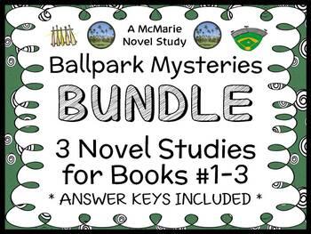 Ballpark Mysteries BUNDLE (David A. Kelly) 3 Novel Studies