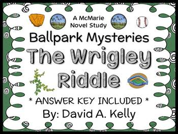 Ballpark Mysteries: The Wrigley Riddle (David A. Kelly) Novel Study  (26 pages)