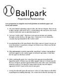 Ballpark Proportional Relationships
