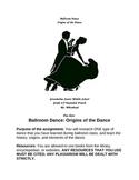 Ballroom Dances Geography assignment