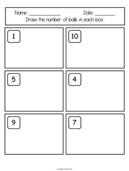 Counting printables - Ball theme