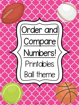 Ordering and comparing numbers - Ball theme