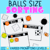 Balls Study   Size Sorting Activity   Preschool   Kindergarten