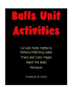 Balls Unit Activities