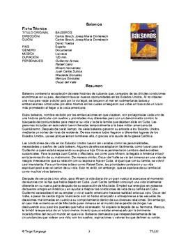 Balseros-Spanish Study Guide