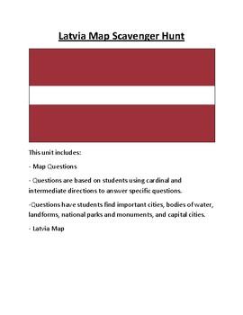 Baltic States Map Scavenger Hunt
