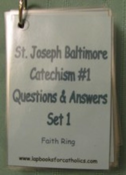 Baltimore Catechism #1 Faith Ring