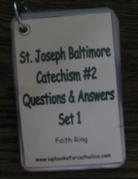 Baltimore Catechism #2 Faith Ring