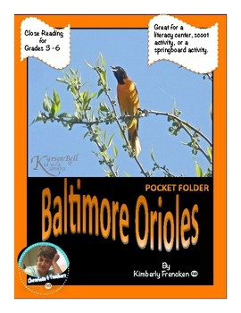 Baltimore Orioles: Non-Fiction Literacy Center or Close Reading Pocket Folders