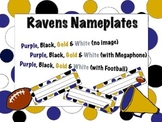 Baltimore Ravens Themed Nameplates/Classroom Labels