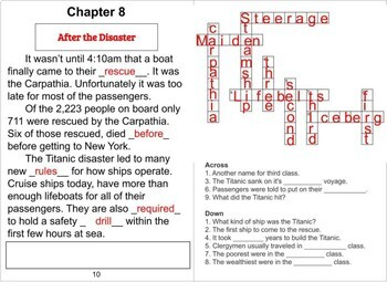 Titanic booklet- main idea - vocab-comprehension-context clues