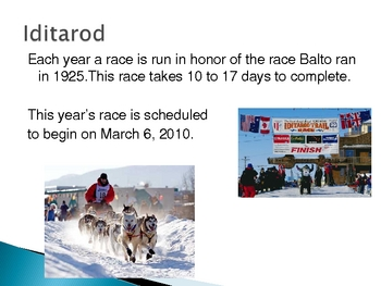 """Balto: The Dog Who Saved Nome"" Power Point Anticipation Guide"