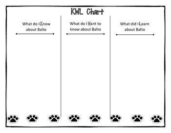 Balto and the Great Race Activities Packet