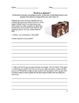 Balzac and the Little Chinese Seamstress- Student Packet