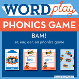 Bam! r-controlled er, ear, eer, long vowel ea Phonics Game -Words Their Way Game
