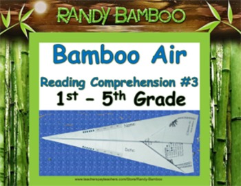Bamboo Air - Reading Comprehension #3 (Folds into airplane! Students love!)