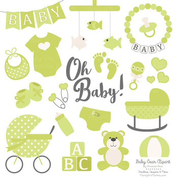 Oh Baby Clipart & Vectors Set in Bamboo