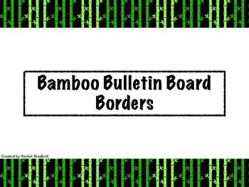 Bamboo Bulletin Board Borders